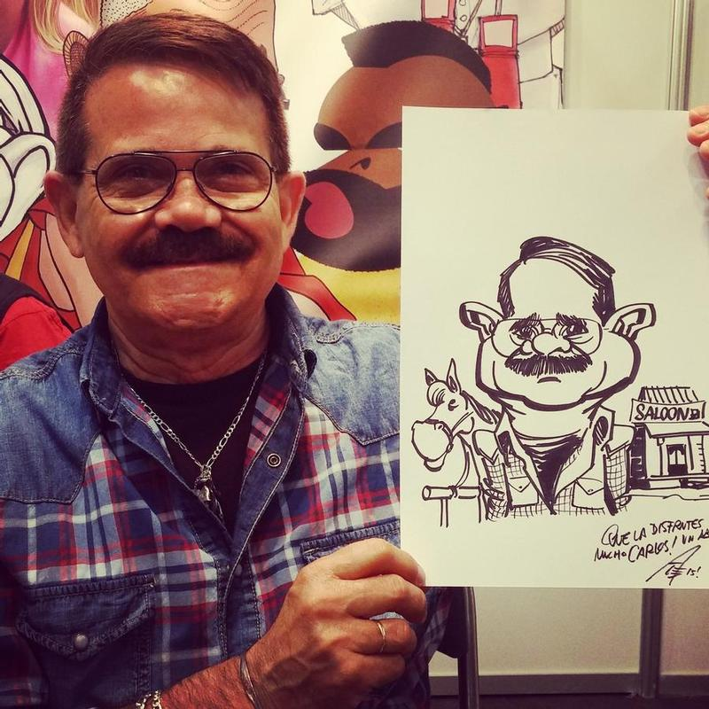 Life caricature gigs at Barcelona Comicon