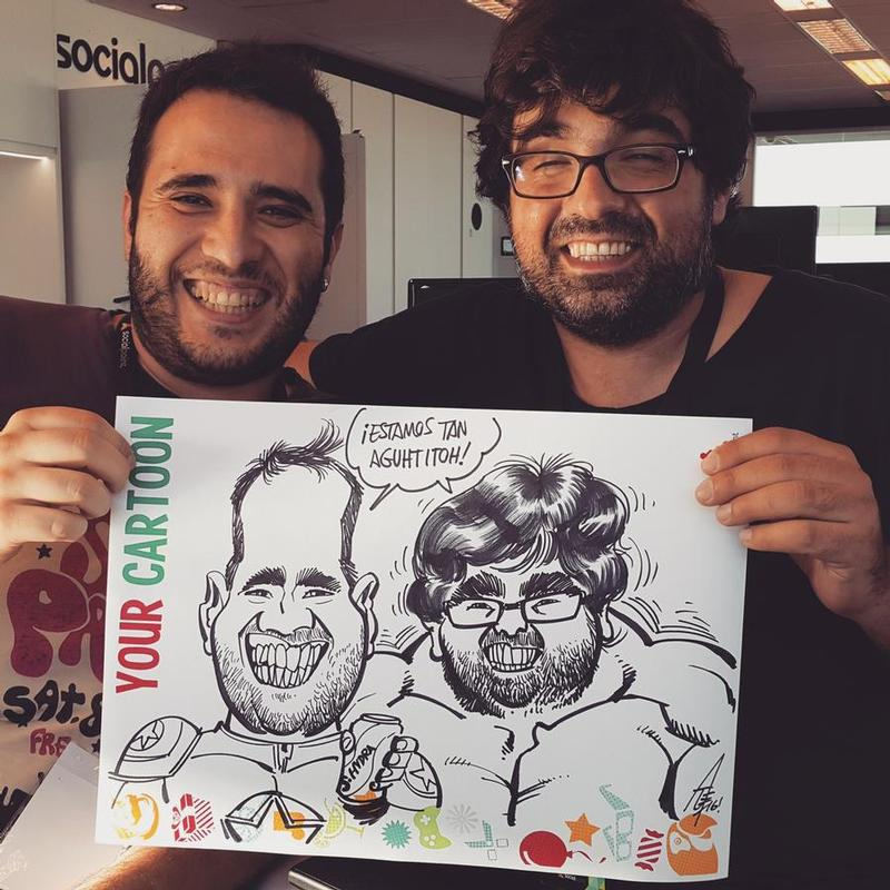 Live caricature gig at  SOCIALPOINT