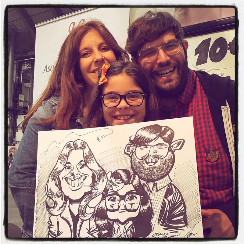 Live caricature gig