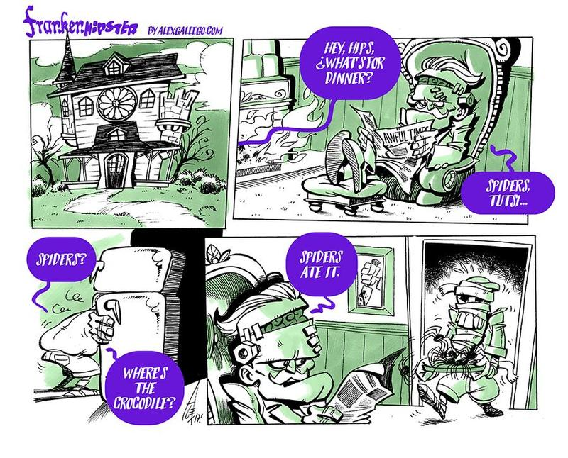 Frankenhipster Cartooning