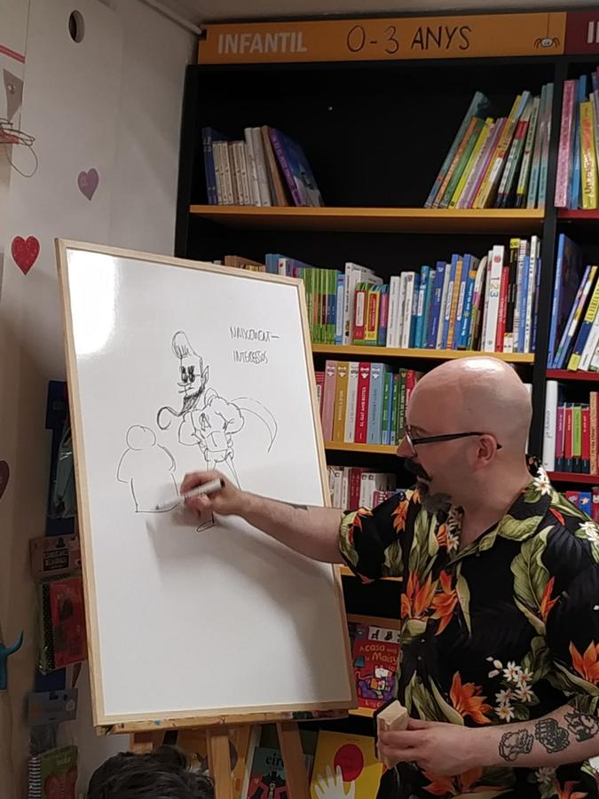 Comic Seminar with kids Live drawing
