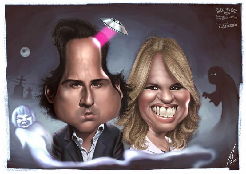 Spanish TV celebrity caricatures