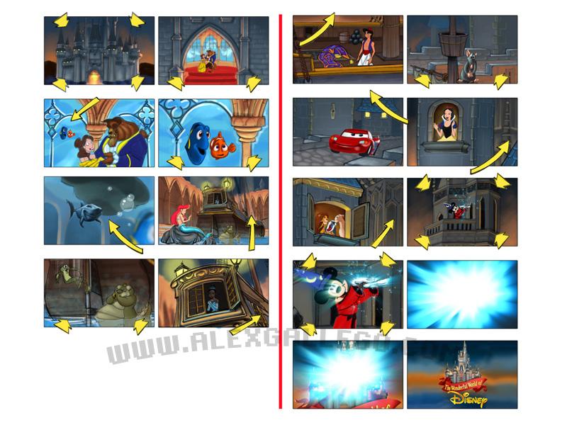 Storyboard for Disney UK
