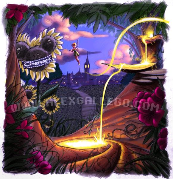 Storyboard for Disney UK Illustration