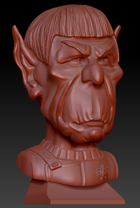 MR. SPOCK, CARICATURE BUST